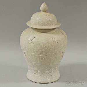 Creamglazed Ginger Jar and Cover