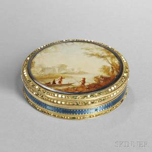 Russian Gold and Enamel Snuff Box