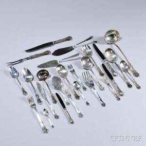 South American Sterling Silver Flatware Service