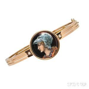 Antique 18kt Gold and Enamel Bracelet Tiffany  Co