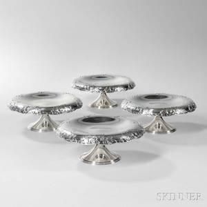 Four Tiffany  Co Sterling Silver Tazzas