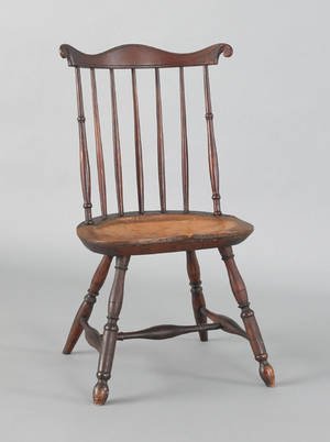 Lancaster County Pennsylvania fanback windsor side chair ca 1780