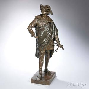 After Emile Louis Picault French 18331915 Bronze Figure of Don Cesar