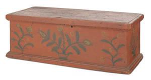 Small New York painted storage box 19th c
