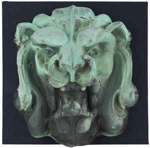Copper lions head architectural element late 19th c