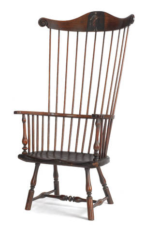 The John Bartram Philadelphia comb back Windsor armchair possibly from the workshop of Thomas Gilpin ca 1750