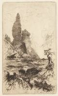 Thomas Moran American 18371926 Tower Falls Yellowstone National Park