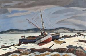 Ross E Moffett American 18881971 Winter in Wellfleet