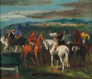 Jon Corbino American 19051964 Jockeys and Mounts