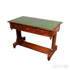 Victorian Mahogany and Rosewood Veneer Library Table
