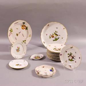 Eighteen Pieces of Herend Porcelain Tableware