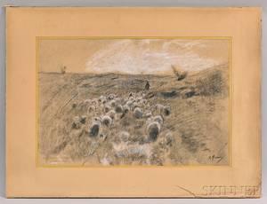 Anton Mauve Dutch 18381888 Flock of Sheep