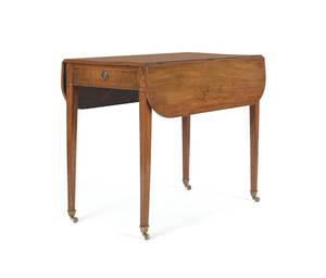 English inlaid mahogany Pembroke table
