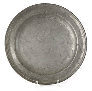 Providence Rhode Island pewter plate ca 1780