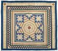 Pennsylvania silk Lonestar quilt 19th c