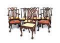 Set of eight Centennial Chippendale mahogany dining chairs