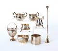 Group of sterling silver tablewares
