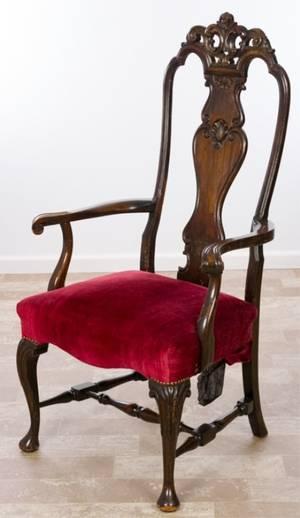 Continental Revival Arm Chair Circa 19th Century