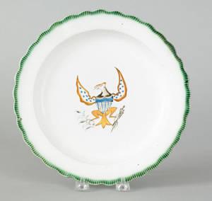English creamware plate late 18th c