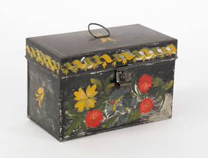 Tole document box 19th c