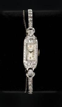 MARILYN MONROE BLANCPAIN PLATINUM AND DIAMOND WATCH
