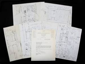 MARILYN MONROE ARCHITECTURAL DRAWINGS FOR 61st STREET MANHATTAN PROPERTY