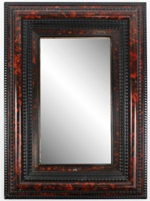 Dutch Faux Painted Tortoiseshell Motif Mirror