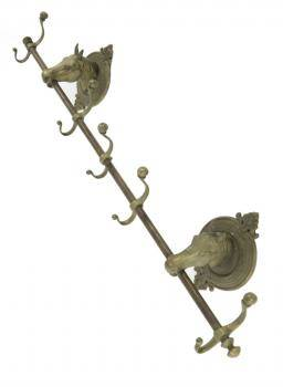 ZAPPA BRONZE HORSEHEAD COAT RACK
