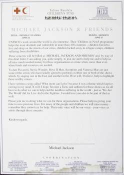 MICHAEL JACKSON SIGNED LETTER TO MARIAH CAREY