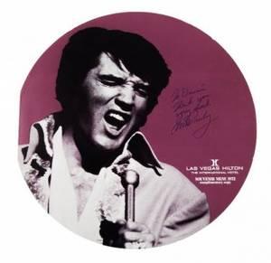 ELVIS PRESLEY INSCRIBED 1972 SOUVENIR MENU