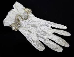 PRINCE STAGE WORN LACE GLOVE 1985