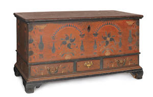 Berks County Pennsylvania painted dower chest ca 1785