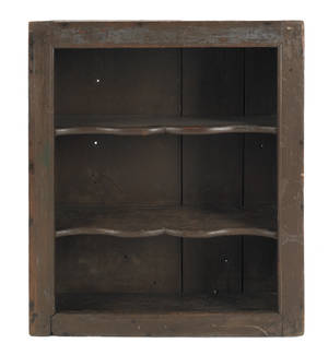 Pennsylvania poplar open wall cupboard ca 1800