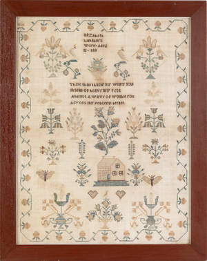 Silk on linen sampler