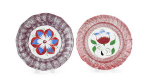 Two spatter plates 19th c