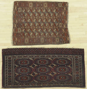 Two Turkoman mats early 20th c