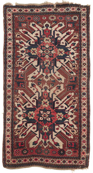 Eagle Kazak carpet early 20th c