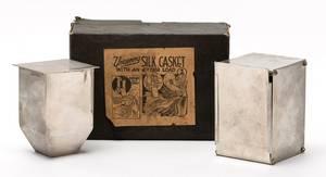 Uncanny Silk Casket Bridgeport Sherms ca 1940 A