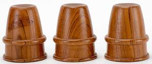 Wooden Cups and Balls Circa 1980  Set of three
