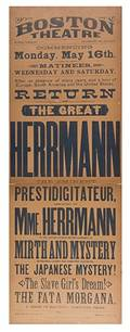 Herrmann Alexander The Great Herrmann Broadside