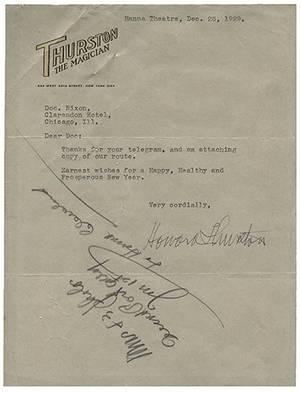 Thurston Howard Typed Letter Signed Howard
