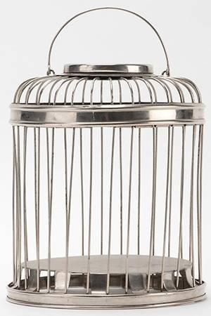 Production Cage German  ca 1920 Round metal cage