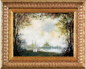 Oil on board landscape signed  Llewelyn