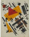 RUSSIAN FIRST HALF OF 20TH CENTURY Suprematist Composition with Orange and Red