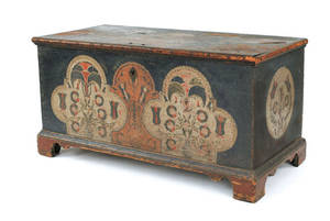 Lehigh County Pennsylvania painted dower chest late 18th c