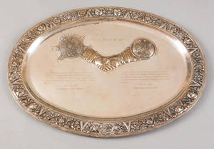 Large Mexican sterling silver presentation platter