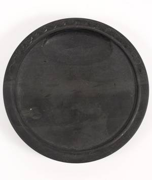 Chinese Black Carved Ink Stone Cloud Scroll Motif