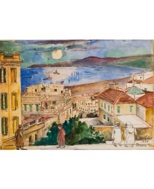 DAVID BURLIUK RUSSIAN 18821967 Tangier Morocco