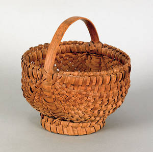 Pennsylvania split oak basket 19th c
