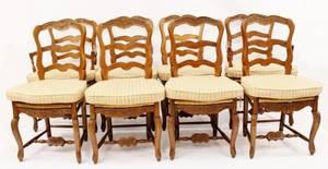 Set of 8 Ladderback Chairs wRush Seats